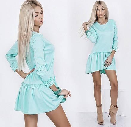 Трикотажное платье с оборками, фото 2