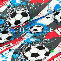 Хлопковая ткань Футбол, фото 1
