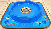 Арена для Бейблейд сражений волчков Инфинити Надо  поле с паркингом  28см Обрезиненная синяя
