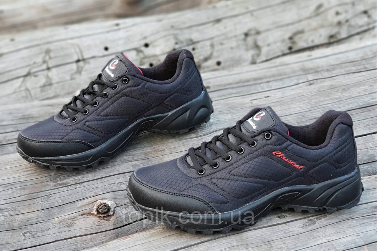 Мужские кроссовки в стиле   черные стильные водоотталкивающие удобные популярные (Код: 1234а)