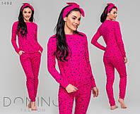 Женская пижама в комплекте с повязкой р.:42,44,46,48, фото 1