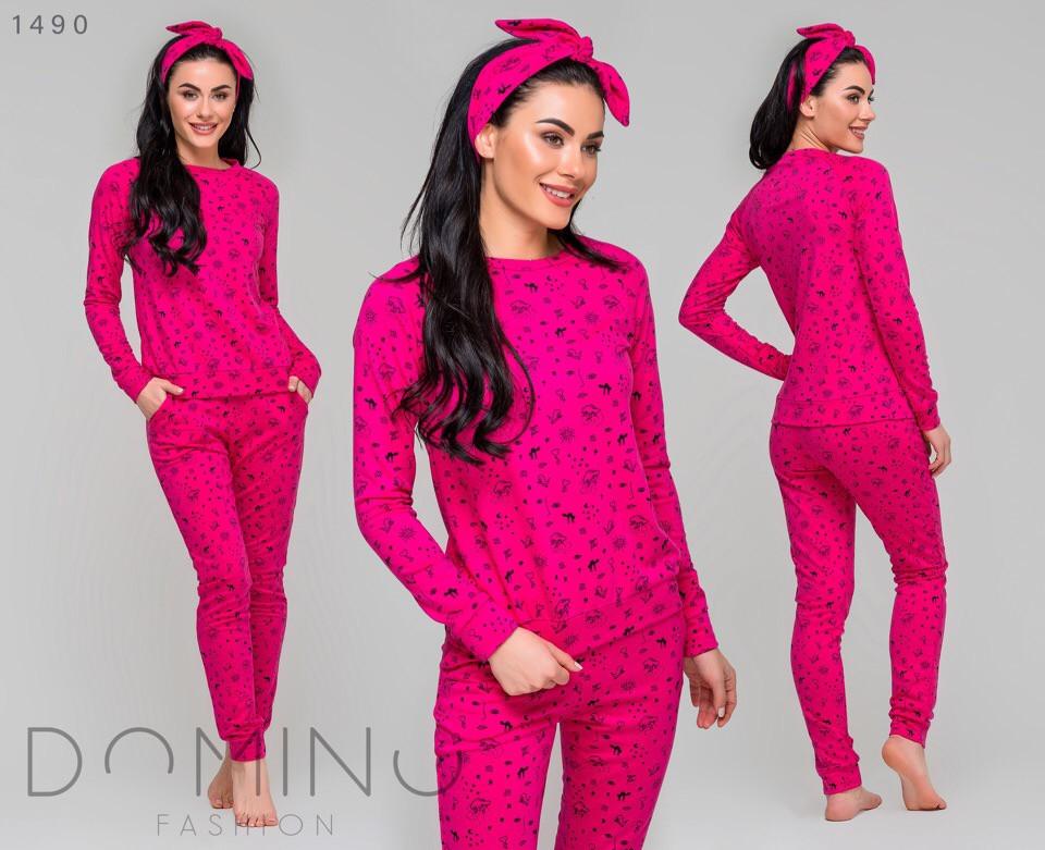 Женская пижама в комплекте с повязкой р.:42,44,46,48