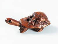 Фигурка нецке Черепаха на черепахе