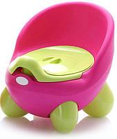 Детский горшок Кью Кью Babyhood розово-зеленый (BH-105P), фото 1
