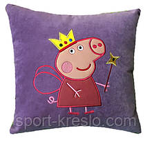 Подушка дитяча сувенірна з вишивкою Пеппа