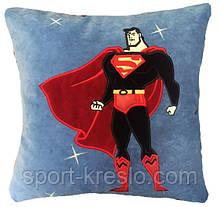 Подушка дитяча сувенірна з вишивкою Супермен
