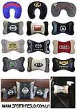 Автомобільна декоративна подушка з вишивкою мотоцикла, фото 8