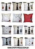 Автомобільна декоративна подушка з вишивкою мотоцикла, фото 10