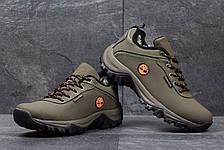 Зимние мужские кроссовки Timberland,оливковые на меху, фото 2