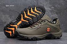 Зимние мужские кроссовки Timberland,оливковые на меху, фото 3