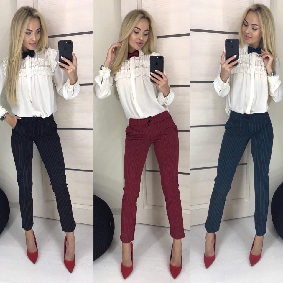Женские  брюки и бабочка  ф7037