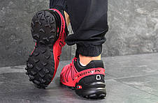 Кроссовки мужские Salomon Speedcross 3,красные, фото 3