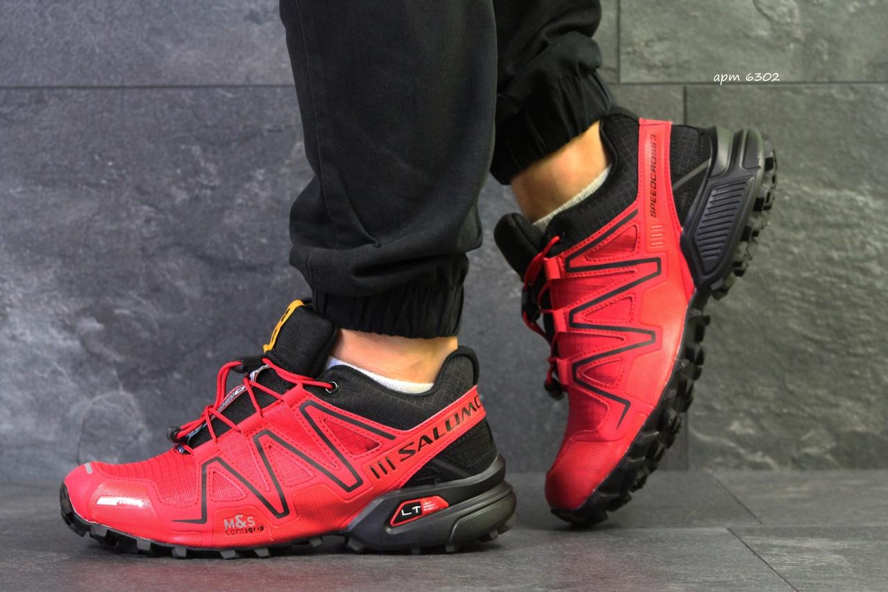 Кроссовки мужские Salomon Speedcross 3,красные