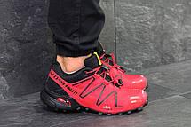 Кроссовки мужские Salomon Speedcross 3,красные, фото 2