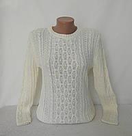 """Нарядный белый свитер """"Марина"""" украшен бусинками, фото 1"""