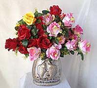 Роза букет 10 голов.  50 см