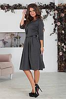 Платье классическое Сафина темно-серое, фото 1