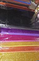 Набір фоамирана з напиленням(блискітками) кольори в асортименті, розмір А4, товщина 2мм, фото 1