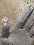 Трикотаж с сенсором женские перчатки 10 цветов для работы на телефоне плоншете ANJELA(только ОПТ), фото 5