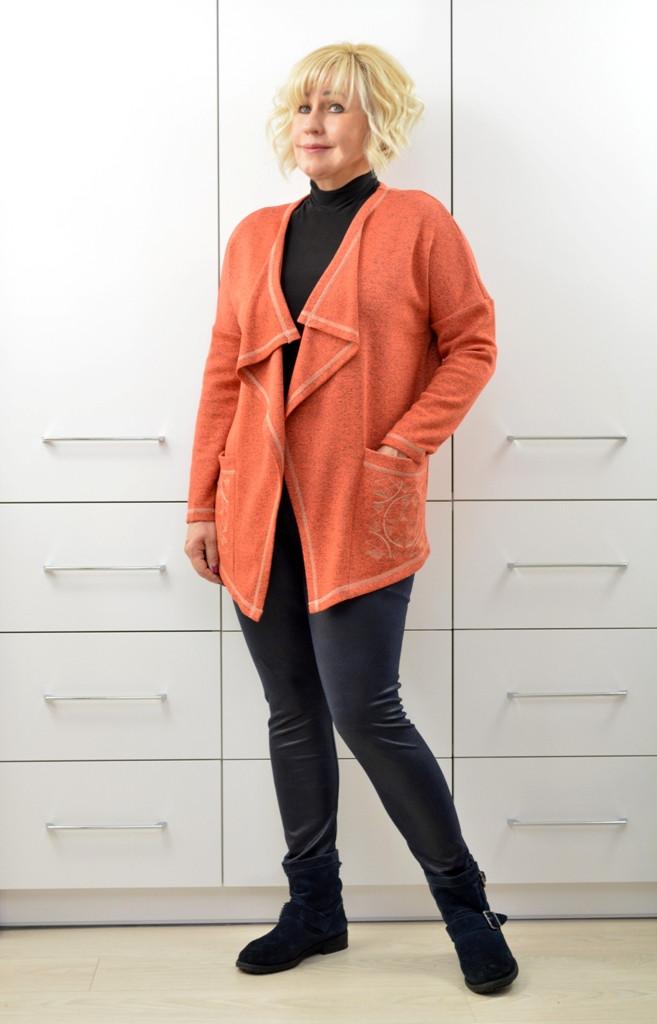 Кардиган с вышивкой на карманах - Модель Л339-4