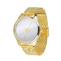 """Часы наручные """"Минимализм"""" с металлическим браслетом цвет золото"""