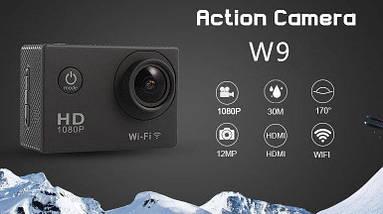 Экшн камера Sports Cam W9 с Wi-Fi FullHD, фото 2