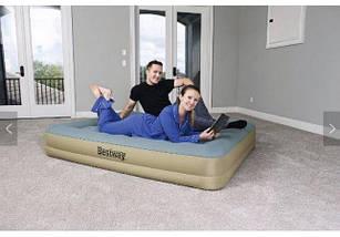 Надувная кровать Bestway 69003 (203х152х33 см) - электронасос, фото 2