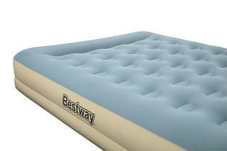 Надувная кровать Bestway 69003 (203х152х33 см) - электронасос, фото 3