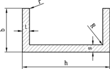 Алюминиевый швеллер   П профиль, Анод 19.6х20х1.8 мм