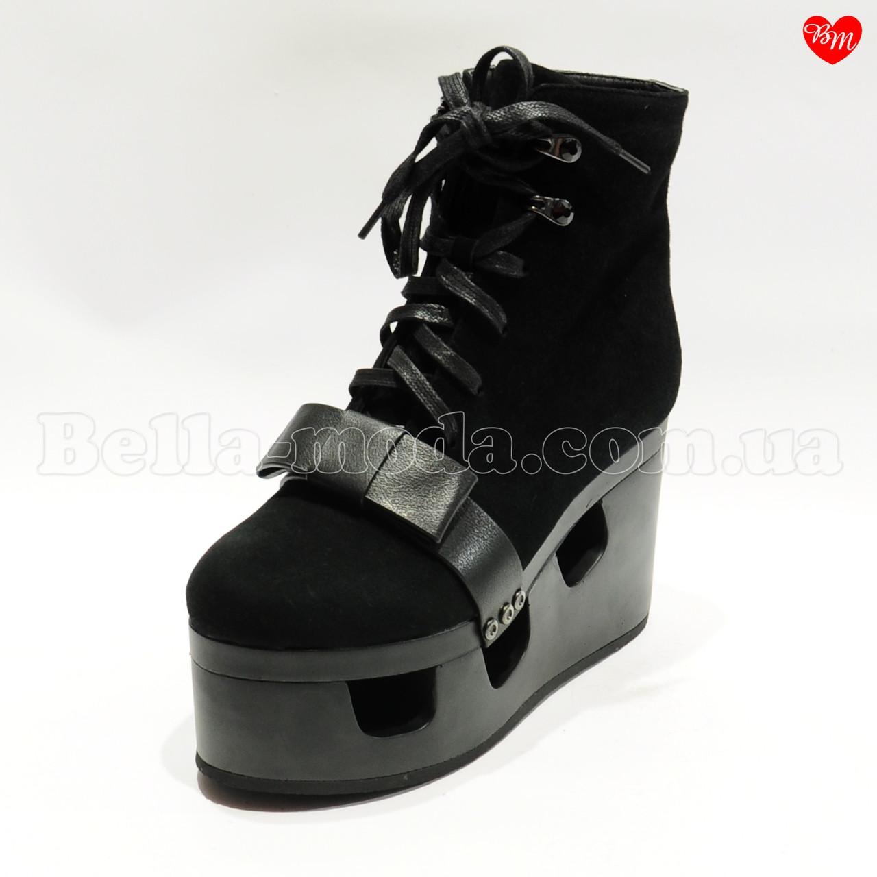 122a5460f Купить Женские ботинки платформа в дырках бантик в розницу от ...