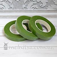 Флористическая тейп-лента, 1,2 см, св.зеленый (17 м)