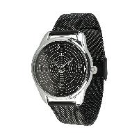 """Часы наручные металлические черные """"Планеты"""" подарок парню"""