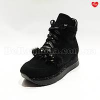 Женские ботинки цепь с норкой Sasha Fabiani, фото 1