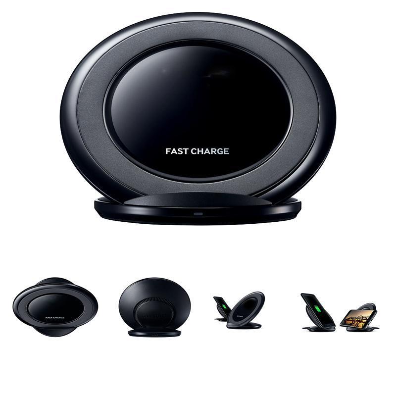 Бездротова зарядка Fast Charge NG930 для мобільних телефонів, QI зарядка. Чорна / біла