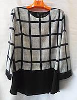 Блуза в клетку женская батальная (L-I-D-A), фото 1