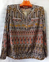 Блуза з ключиками жіноча батальна (L-I-D-A)
