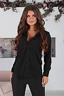 Рубашка классический стиль черная, фото 1
