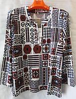 Блуза с орнаментом женская батальная (L-I-D-A)