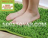"""Коврики из микрофибры """"Макароны или дреды"""" для широкого применения, 60х40 см., светло-зелёный цвет, фото 3"""