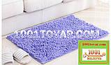 """Набір з 2-х килимків з мікрофібри """"Макарони або дреди"""" для широкого застосування, 80х50 см і 35х50 див., фото 5"""