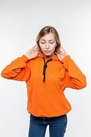 Худи женский оранжевый хлопок демисезонный., фото 1
