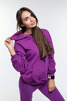 Худи женский фиолетовый хлопок демисезонный., фото 1