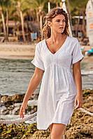 11cbb22d9eaef Белая пляжная туника с вышивкой David DA9-024 One Size Белый David DA9-024