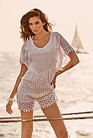Белое пляжное платье мини с вышивкой Iconique IC9-022 44(M) Белый Iconique IC9-022
