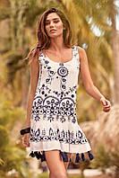 Белое пляжное платье с вышивкой Iconique IC9-077 44(M) Белый Iconique IC9-077