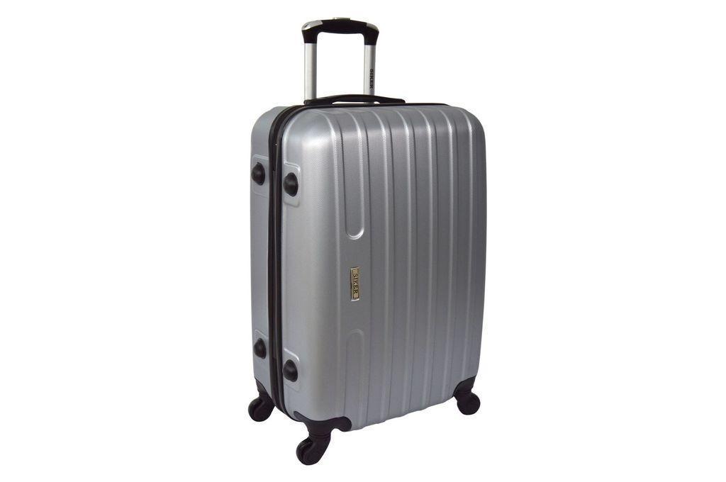 Дорожный чемодан на колесах Siker Line Серебряный Большой