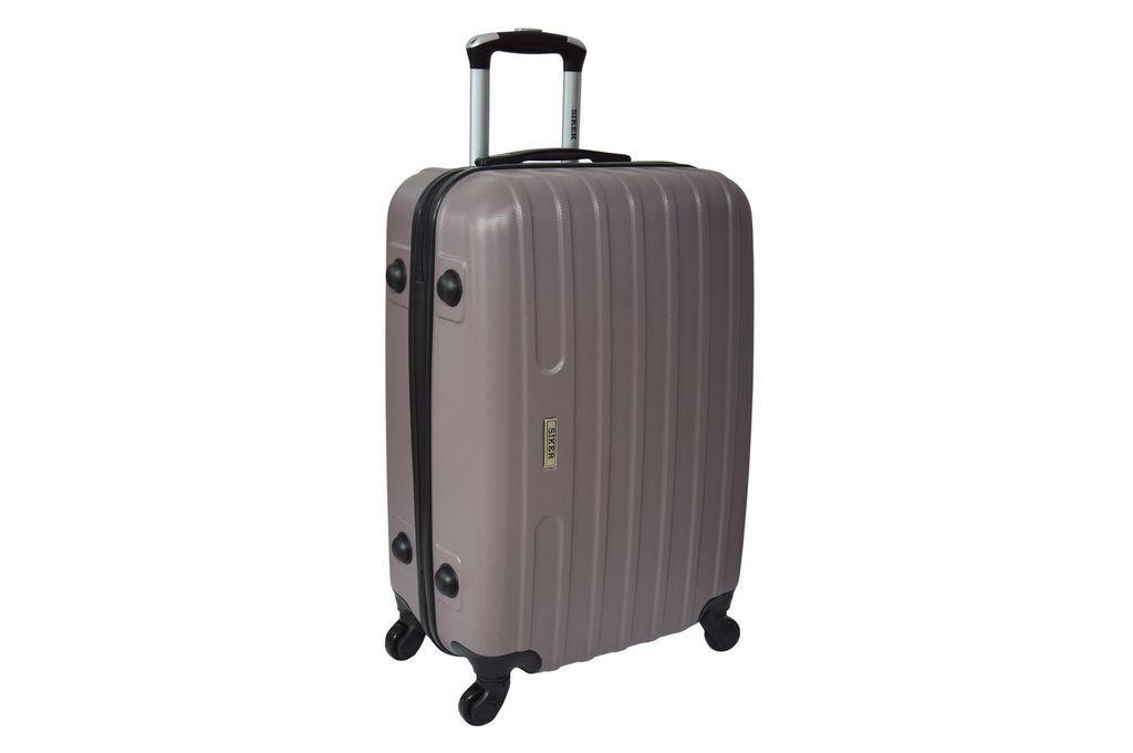 Дорожный чемодан на колесах Siker Line Какао Большой