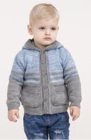 Кофточка детская на пуговичках с капюшоном, карманы, рост 80-98 см., 499/451 (цена за 1 шт. + 48 гр.)