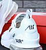 Кроссовки мужские Найк Off-White x N*ke Air Max 270 White. ТОП Реплика ААА класса., фото 6