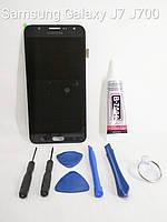 Модуль, тачскрин, сенсор Samsung Galaxy j7, j700, j700h, j700m, j708 чёрный